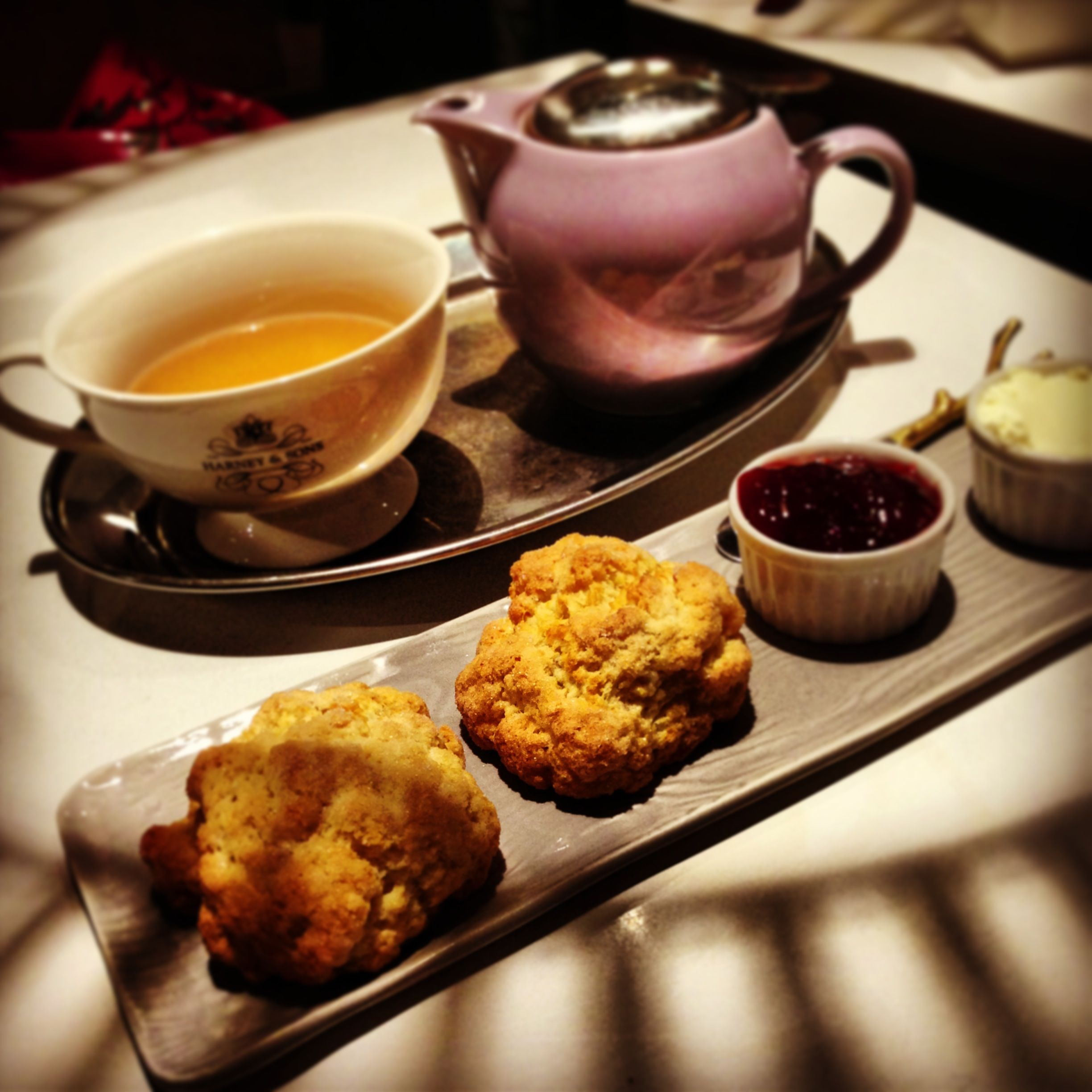 A Drink With Jam And Scones. @ Harney & Sons, SoHo