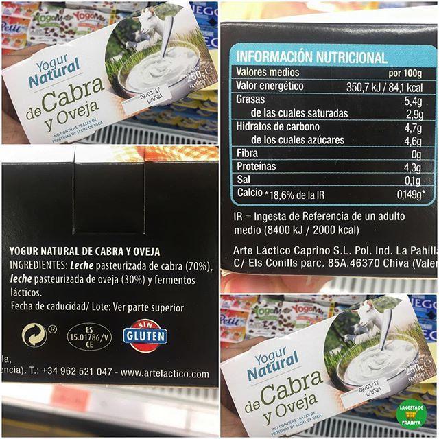 Yogur Natural De Cabra Y Oveja Supermercado Mercadona