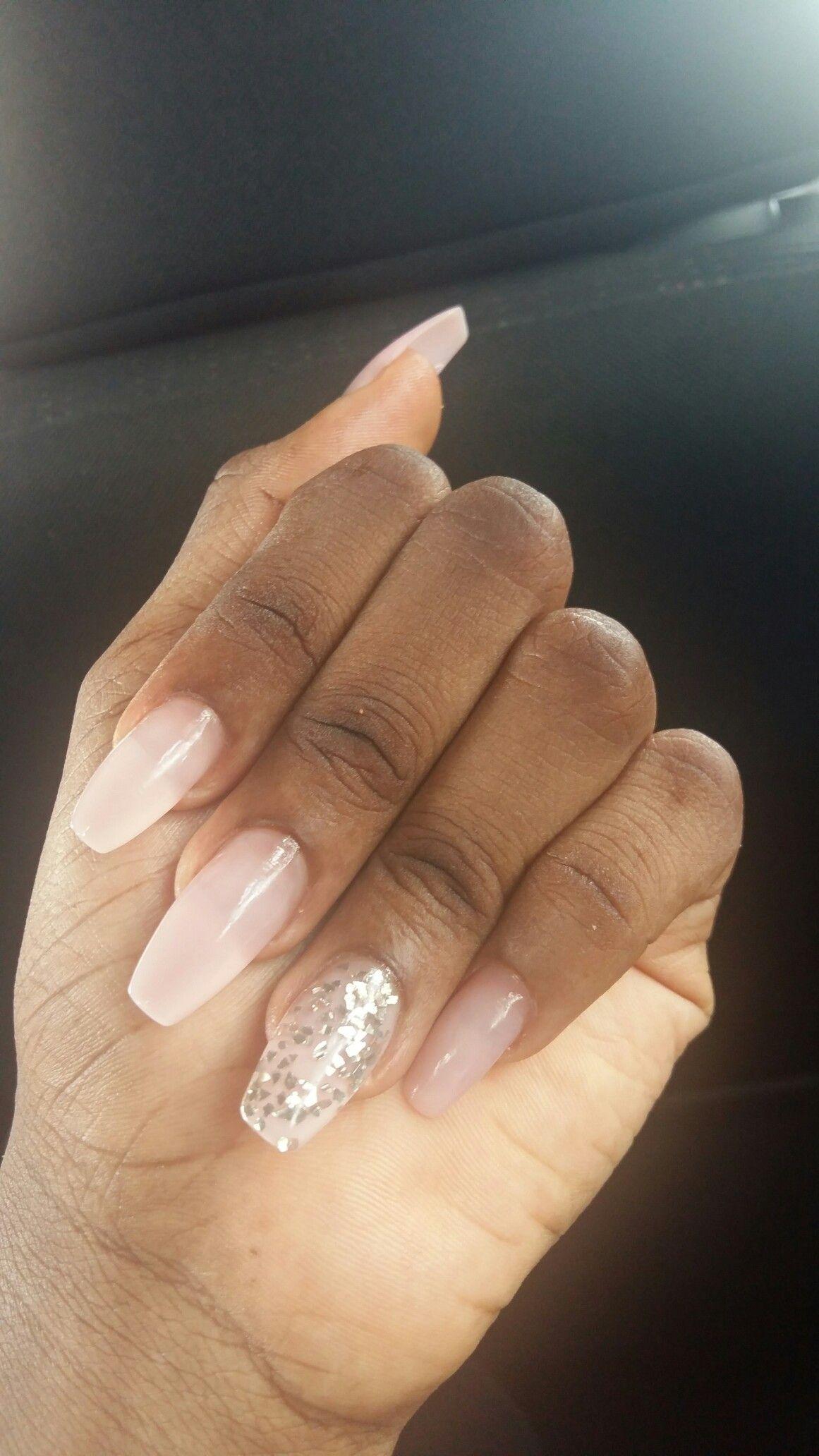 Nails Dark Skin Pink Glitter Acrylics Pink Nails Dark Nails Baby Pink Nails