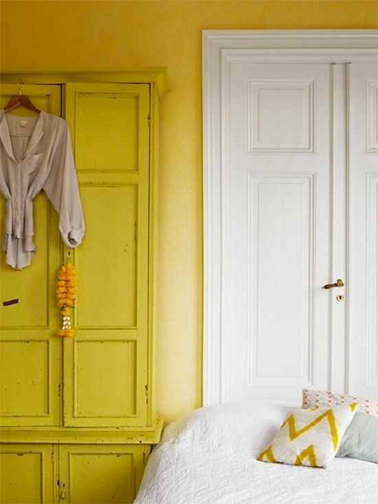 When You Finally Find The Perfect Lemon Yellow Paint Don T Just Cover Walls Coat Your Furniture To Match As Seen Above From Sfbybay