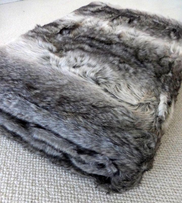 Imitatie Vacht Plaid.Faux Fur Plaid Imitatie Bont Deken Grey 170 X 240 Cm Faux