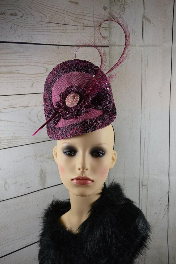 Pink Lace Fascinator This classy fascinator is hand made in Ireland from  sinimay and lace with broach and feather trim. It will turn heads at any f190a2afb3a