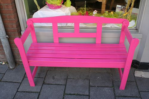 pink bench | Pink bench, Country furniture