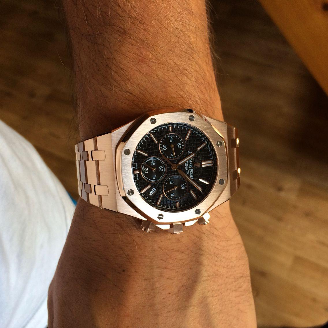 Audemars Piguet Royal Oak Chronograph Pink Gold | Luxury ...