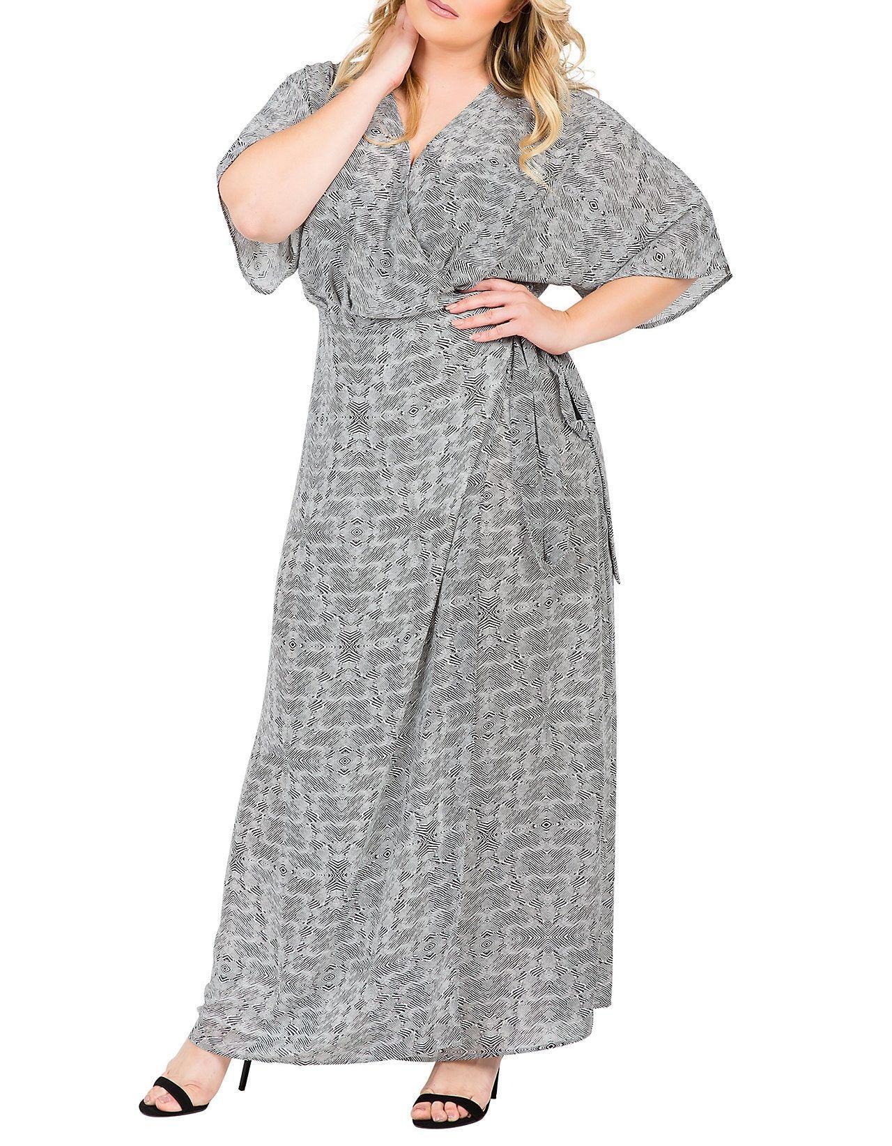 Plus Size Olivia Kimono Sleeve Maxi Dress in 2019 | Style ...