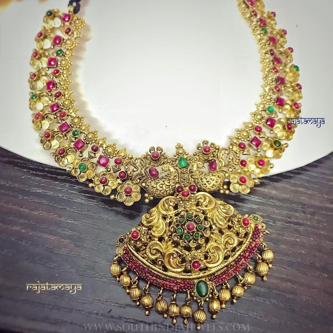 with jumkas necklace boutiquedesignerjewellery com antique ruby