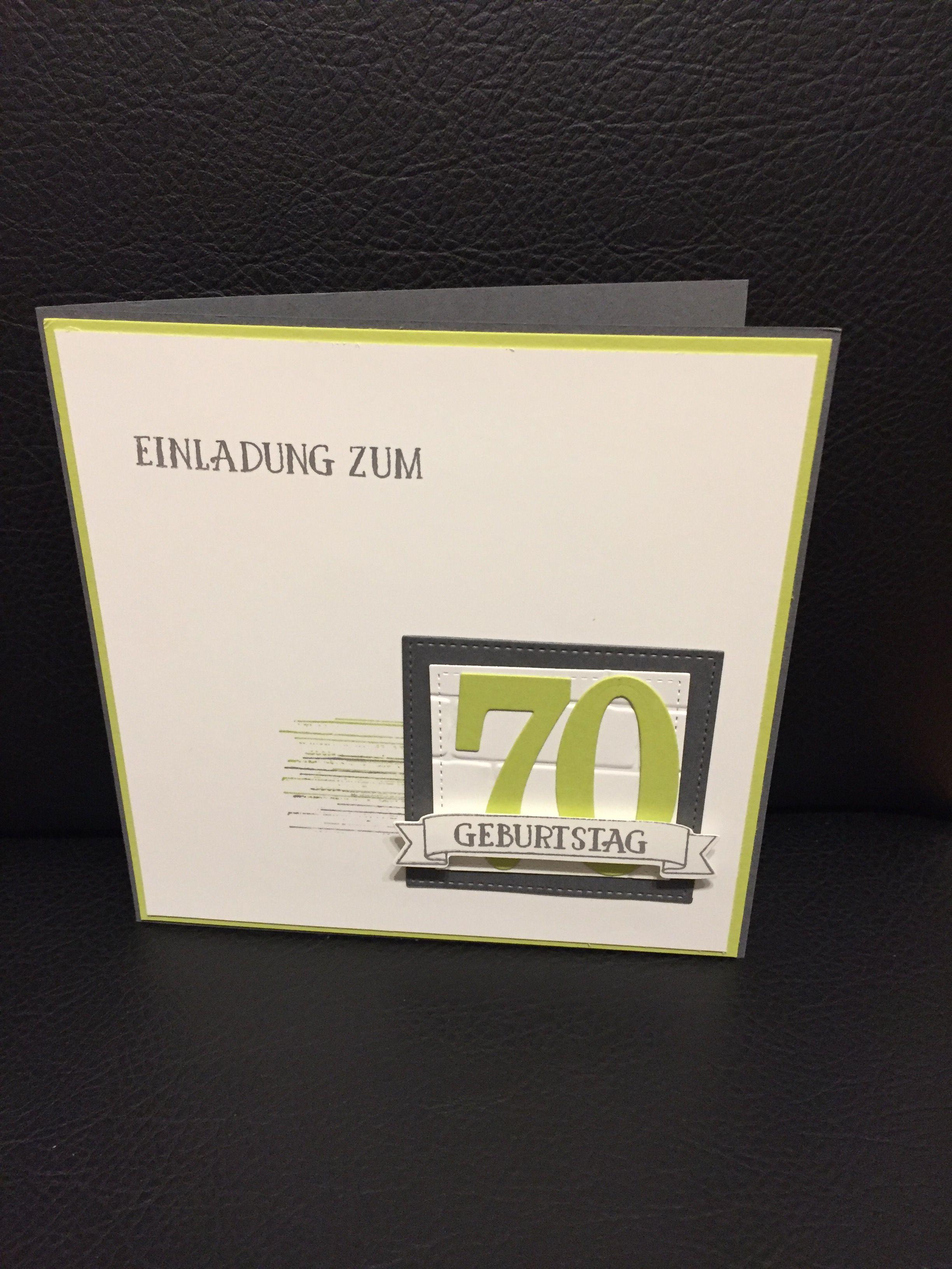 Einladung 70. Geburtstag, Stampin Up