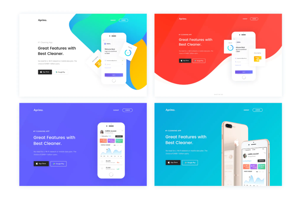 Faster- App Landing Page HTML Template by CreativeGigs on ...