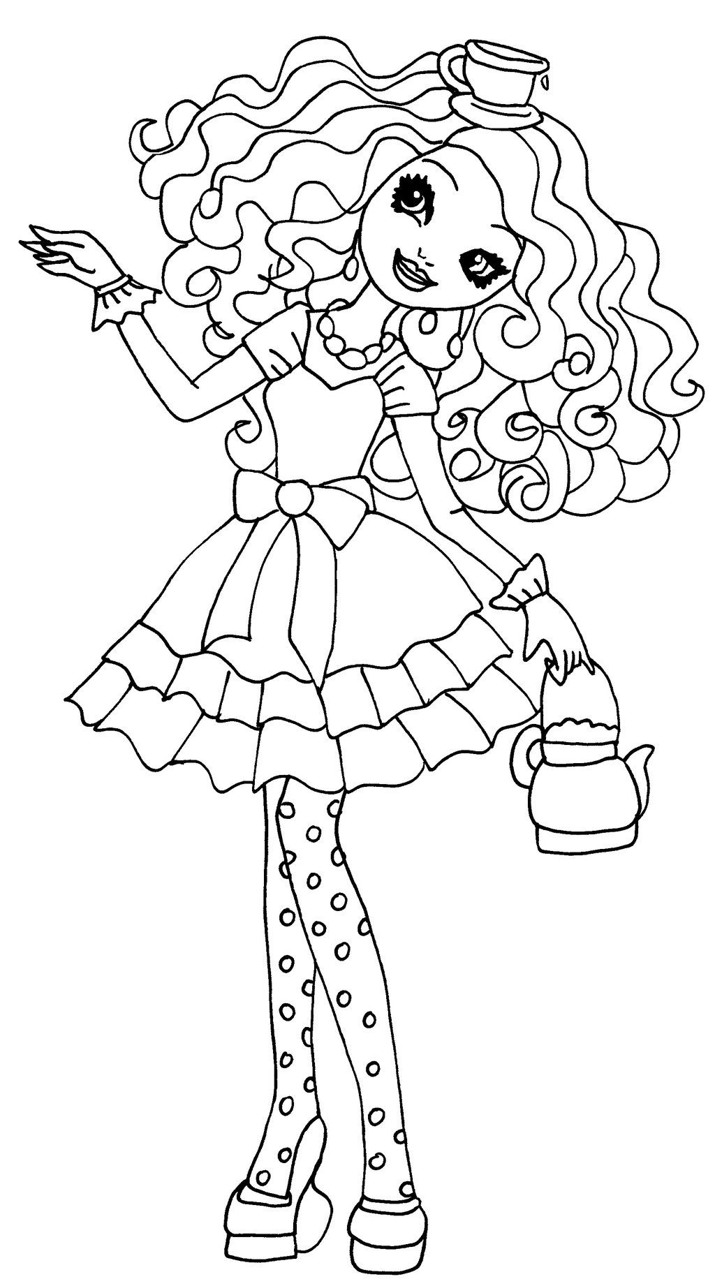 Madeline hatter coloring page my gk wants for bday theme for Madeline coloring pages printable