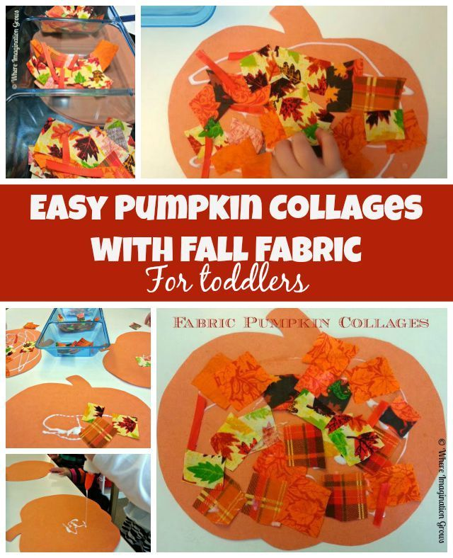 Simple Fall Craft For Toddlers Make These Fun Pumpkin Collages With Fabrics