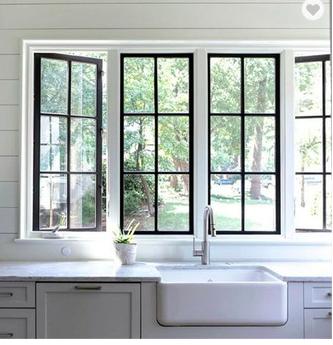 Black Window Trim Modern Farmhouse Kitchens Interior Windows Black Window Frames