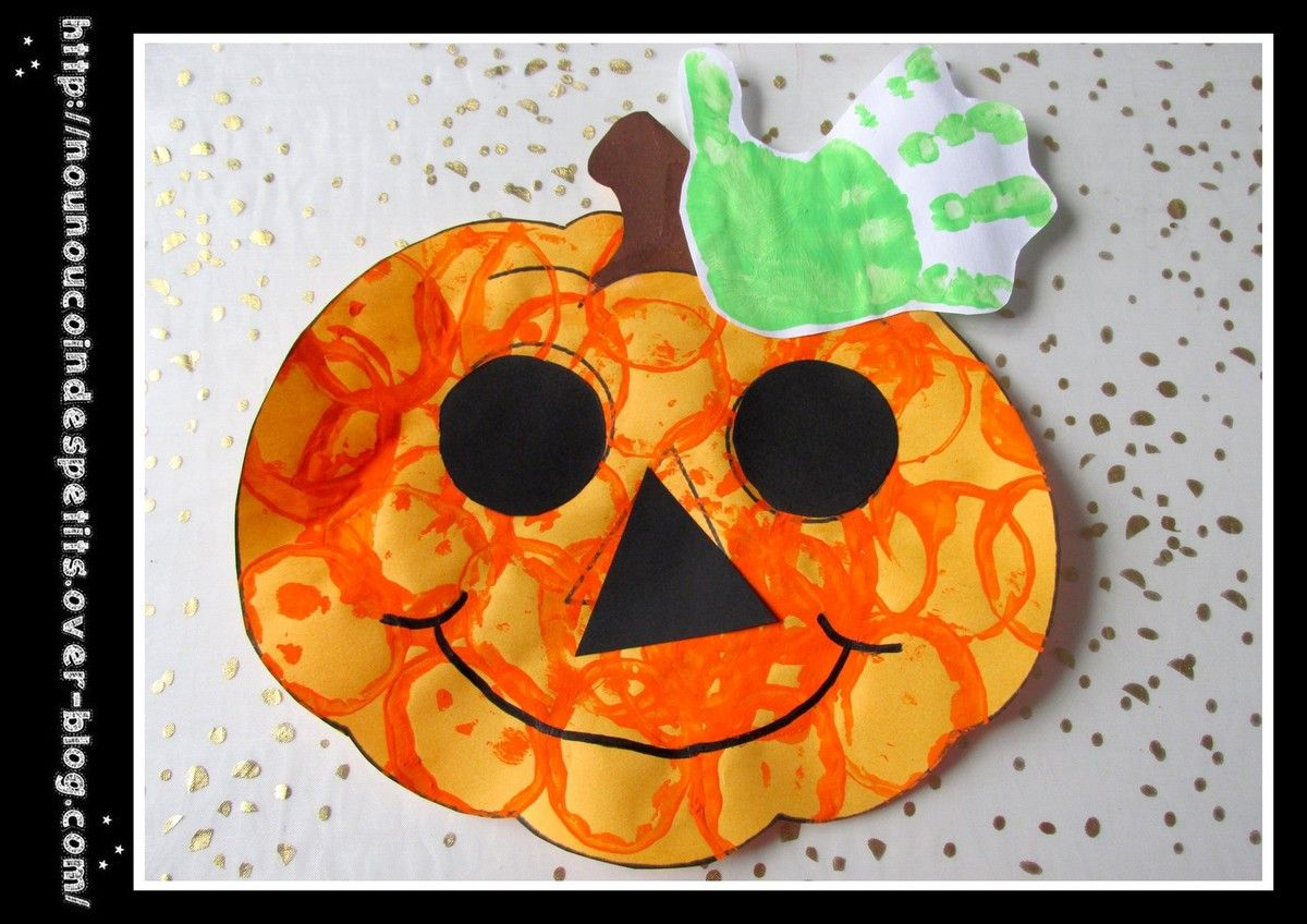 pour halloween Citrouille halloween maternelle