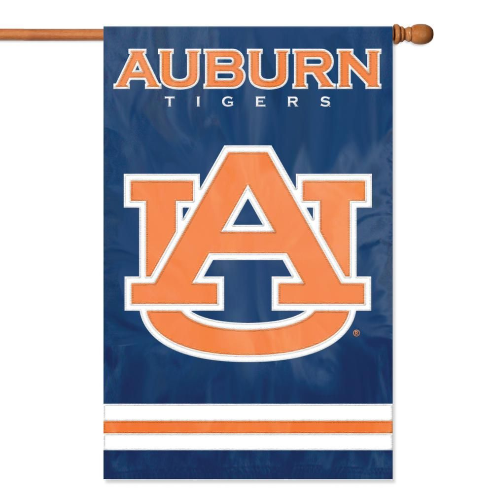Party Animal Auburn Tigers Applique Banner Flag Afau The Home Depot In 2020 Auburn Tigers Auburn University Auburn