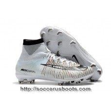 Nike Soccer Cleats Cheap Nike Mercurial Superfly V CR7 Grey White Black