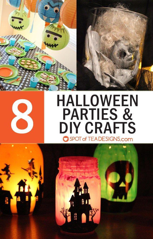 8 Fun Halloween Parties and DIY Crafts Halloween parties, Tea - halloween diy crafts