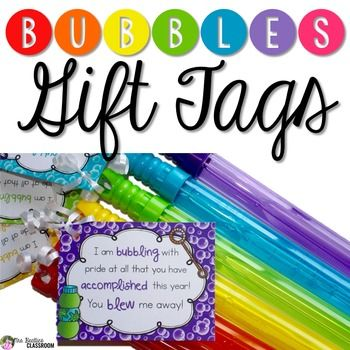 photo about You Blew Me Away This Year Free Printable titled Bubble Present Tags training tips Pupil presents, Goodbye