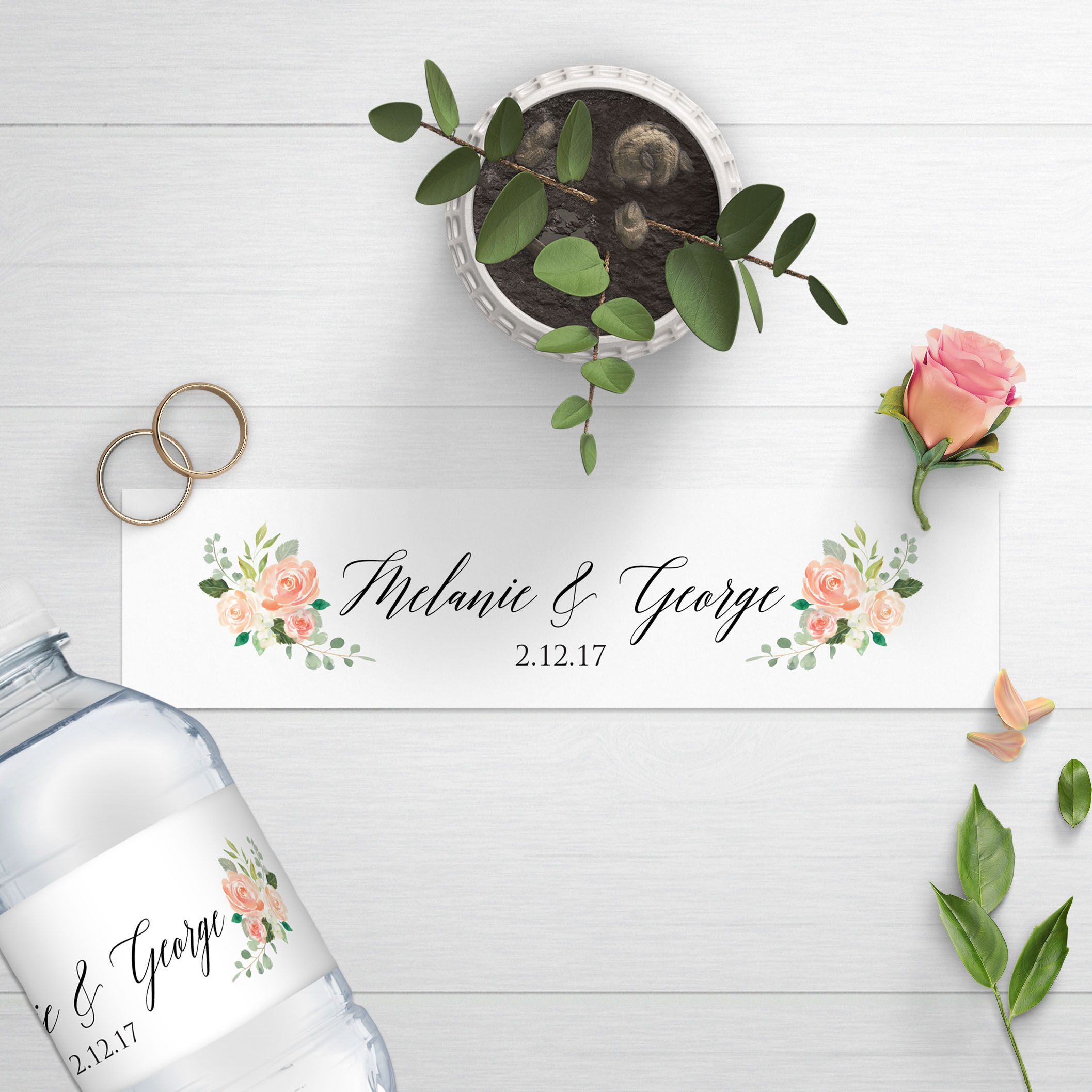 Wedding Water Bottle Labels - DesignedByME on Etsy. | Water Bottle ...