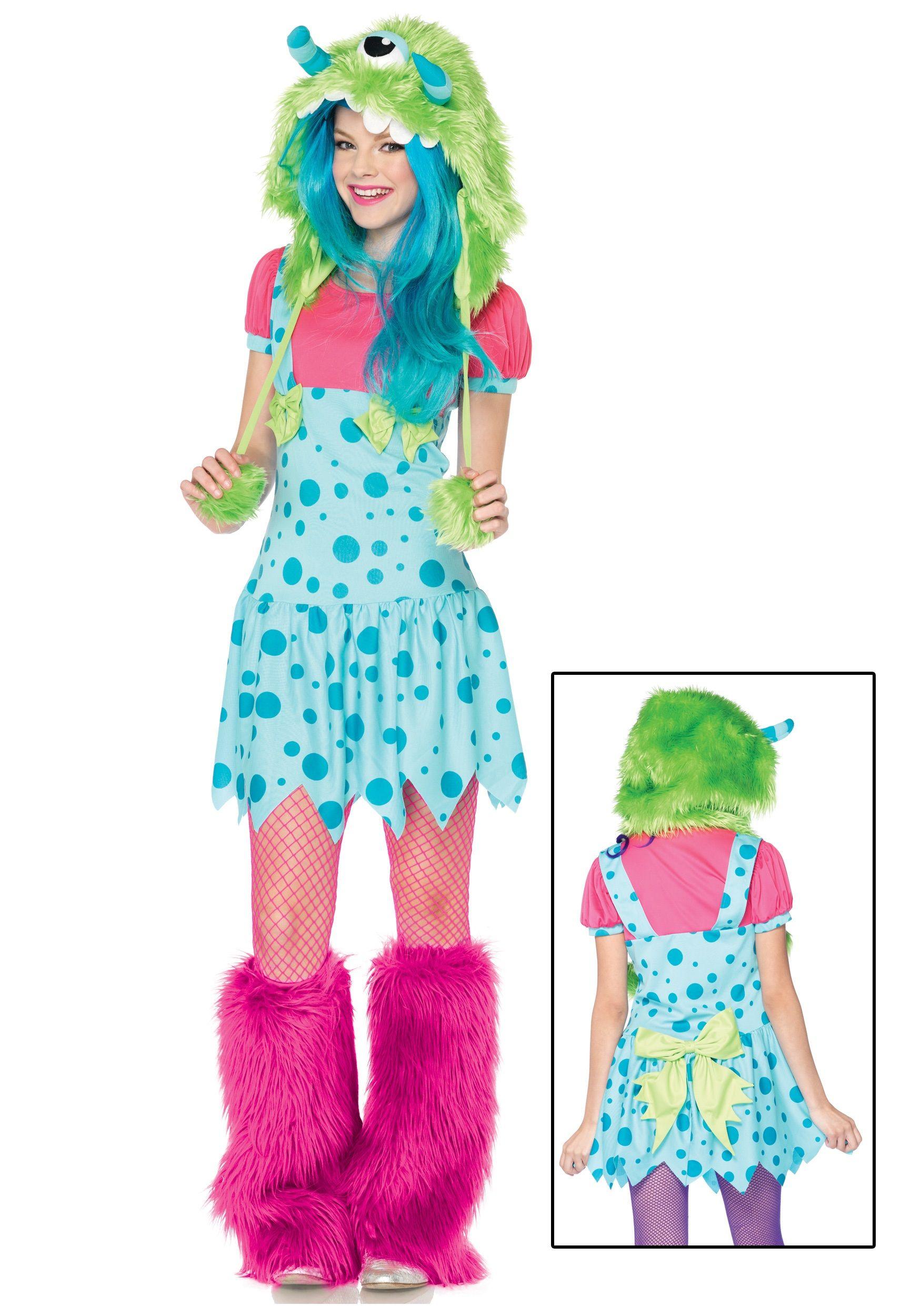 cute girl costume ideas   Cute Teen One Eyed Erin Monster Costume ...