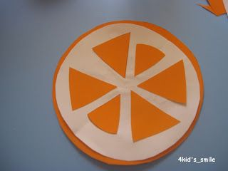 make an orange with circles and triangles