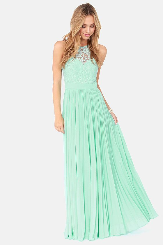 39c4736d1d87e1 Bariano Best of Both Whirleds Mint Green Lace Maxi Dress at Lulus.com!