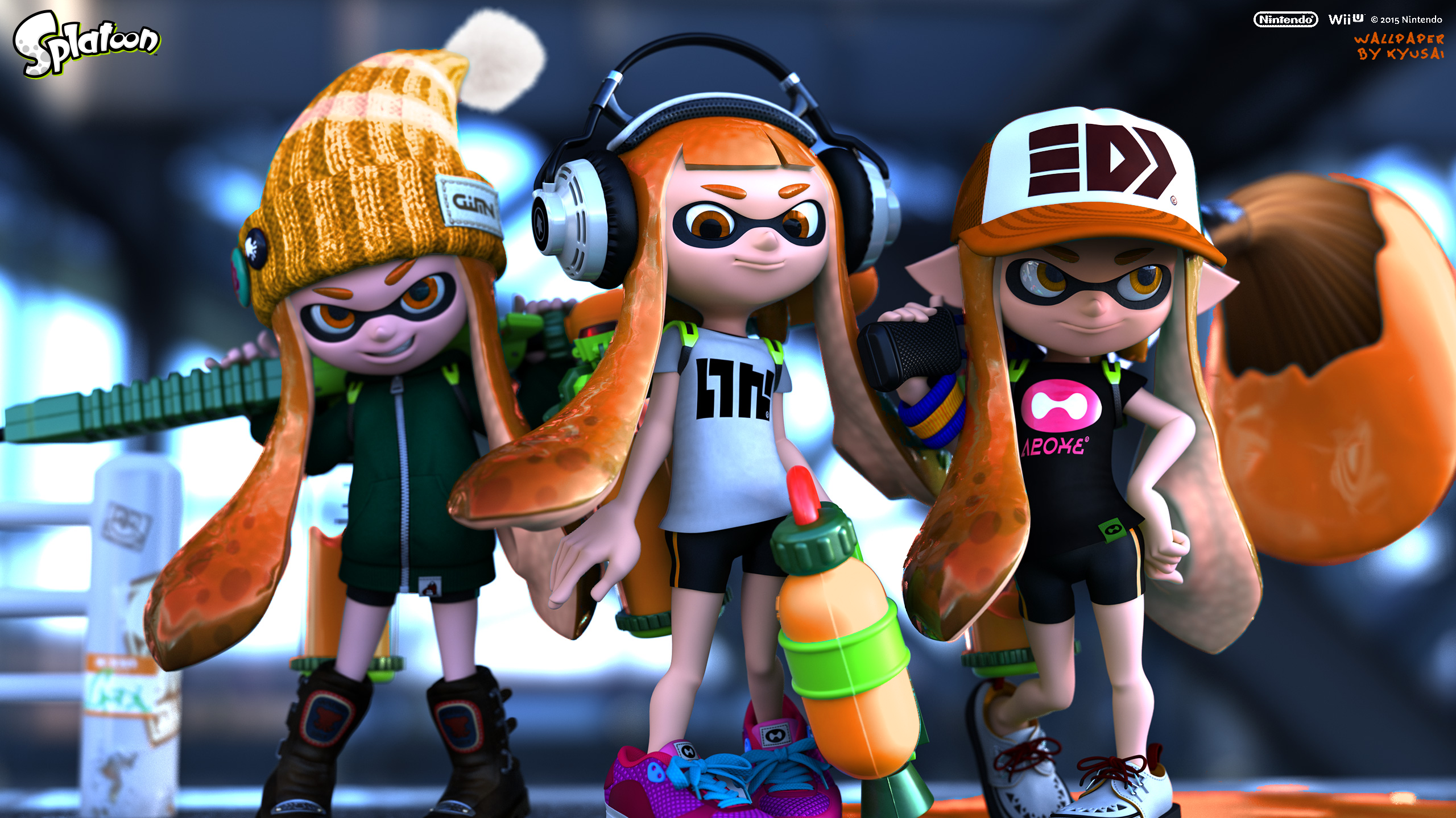 Splatoon Inkling Girls Png 2560 215 1439 Splatoon