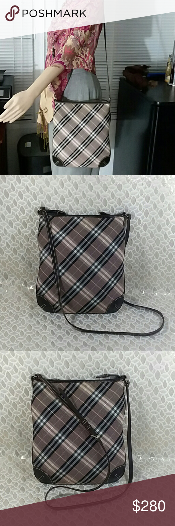 9ae0b3c080a9 Authentic Burberry Blue Label Brown Canvas Bag. The bag was made in Japan  with a serial number 01110 05 YDM and is in a good condition.