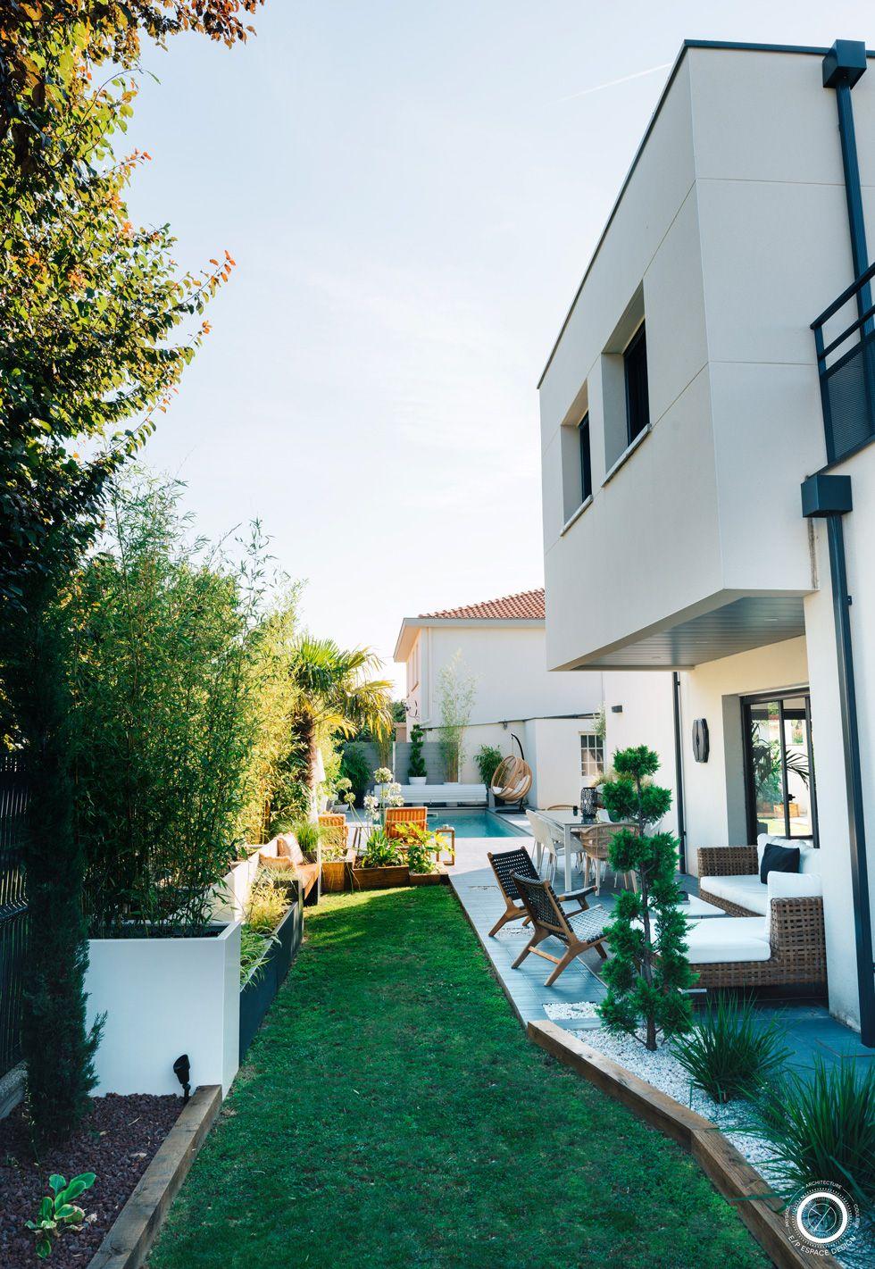 Design Jardin Villa Contemporaine Petit Jardin De Ville Massifs