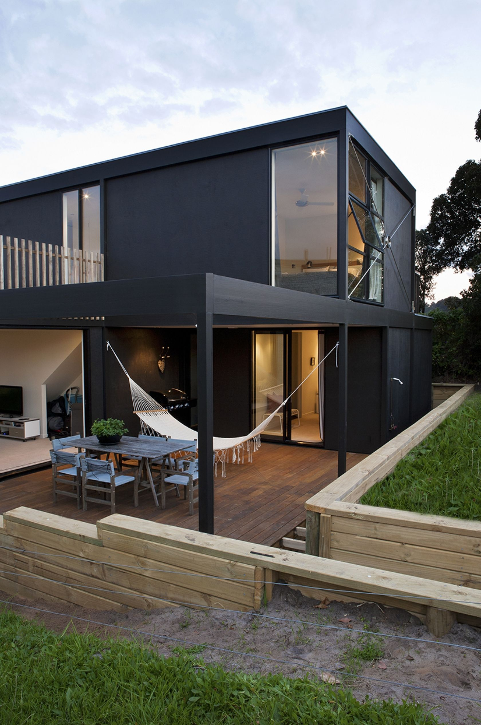 box living whangapoua beach house casa modular new zeland arquiloucos pinterest boxing. Black Bedroom Furniture Sets. Home Design Ideas