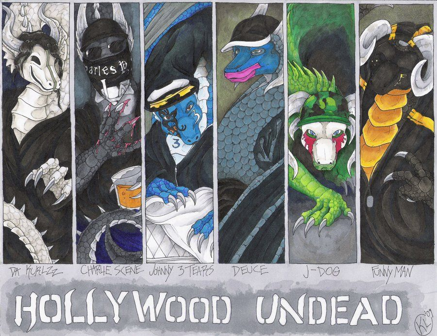 Dragonized Hollywood Undead by RaptorBarry.deviantart.com on @DeviantArt