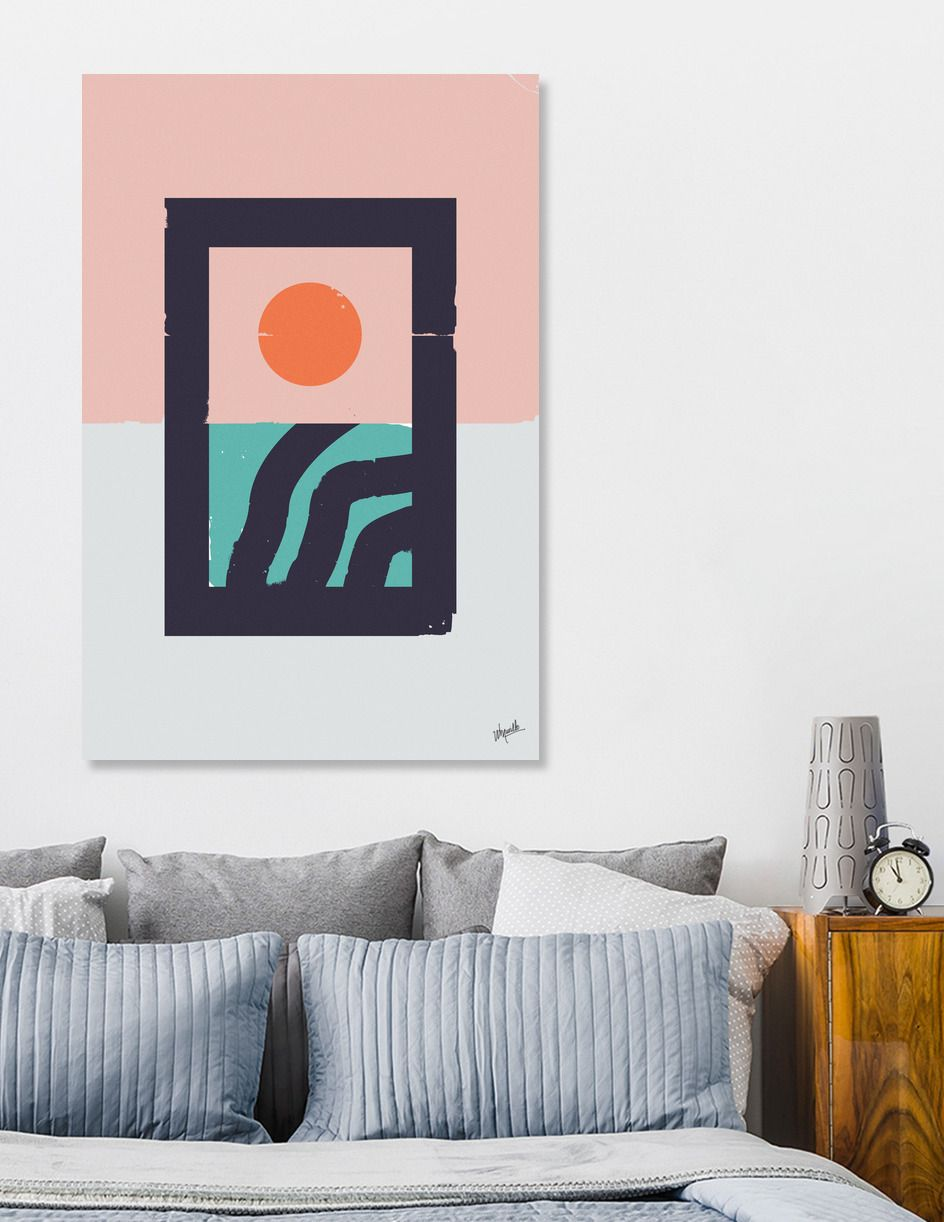 """Fine art stretched canvas, 450gsm matt white finish, 100% cotton. Hand stretched over 1.5"""" deep wood stretcher bars (3/4"""" for XS). Includes wall hanging hardware. Manually numbered, signed, and shipped with a certificate of authenticity."""