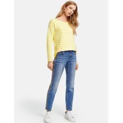 Taifun Jeans mit Kontrastnaht Skinny Ts Blue Denim Damen Taifun