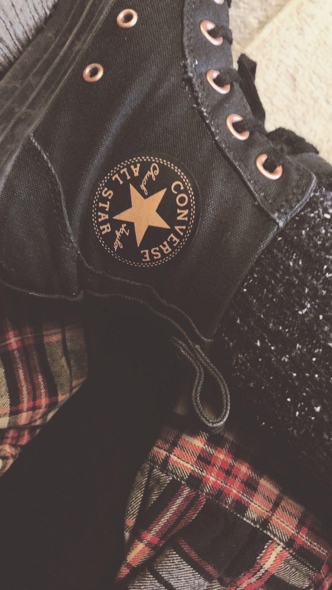 Grunge hipster aesthetic converse plaid   Vêtements