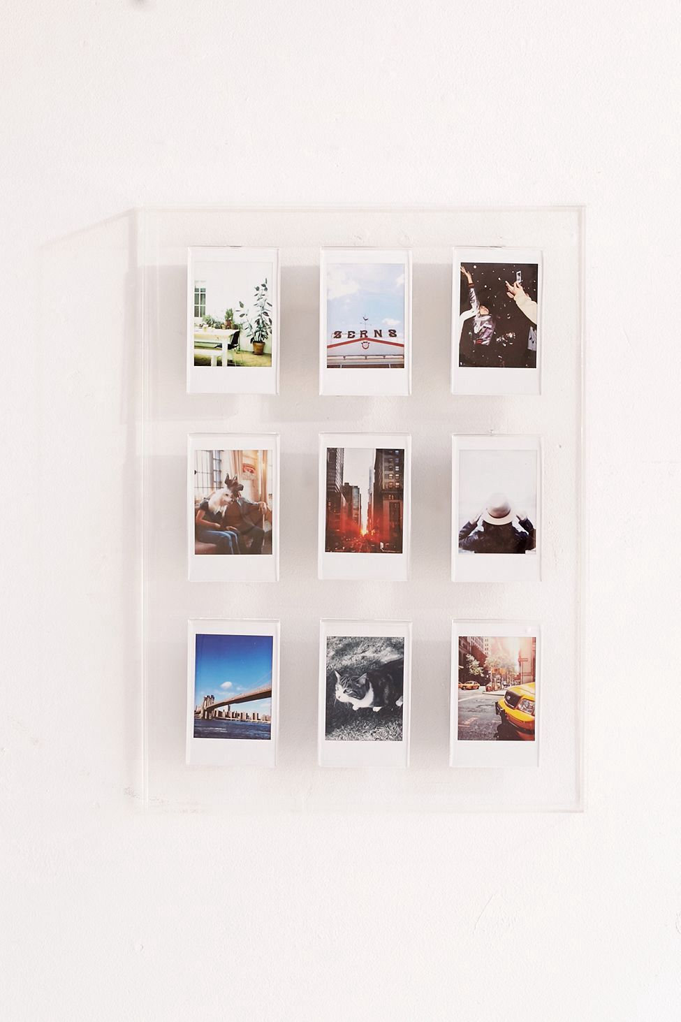 Urban Outfitters Instax Acrylic Gallery Multi Picture Frame - Clear ...