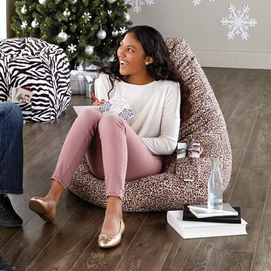 Popsicle Vinyl Beanbag Lounger With Footrest