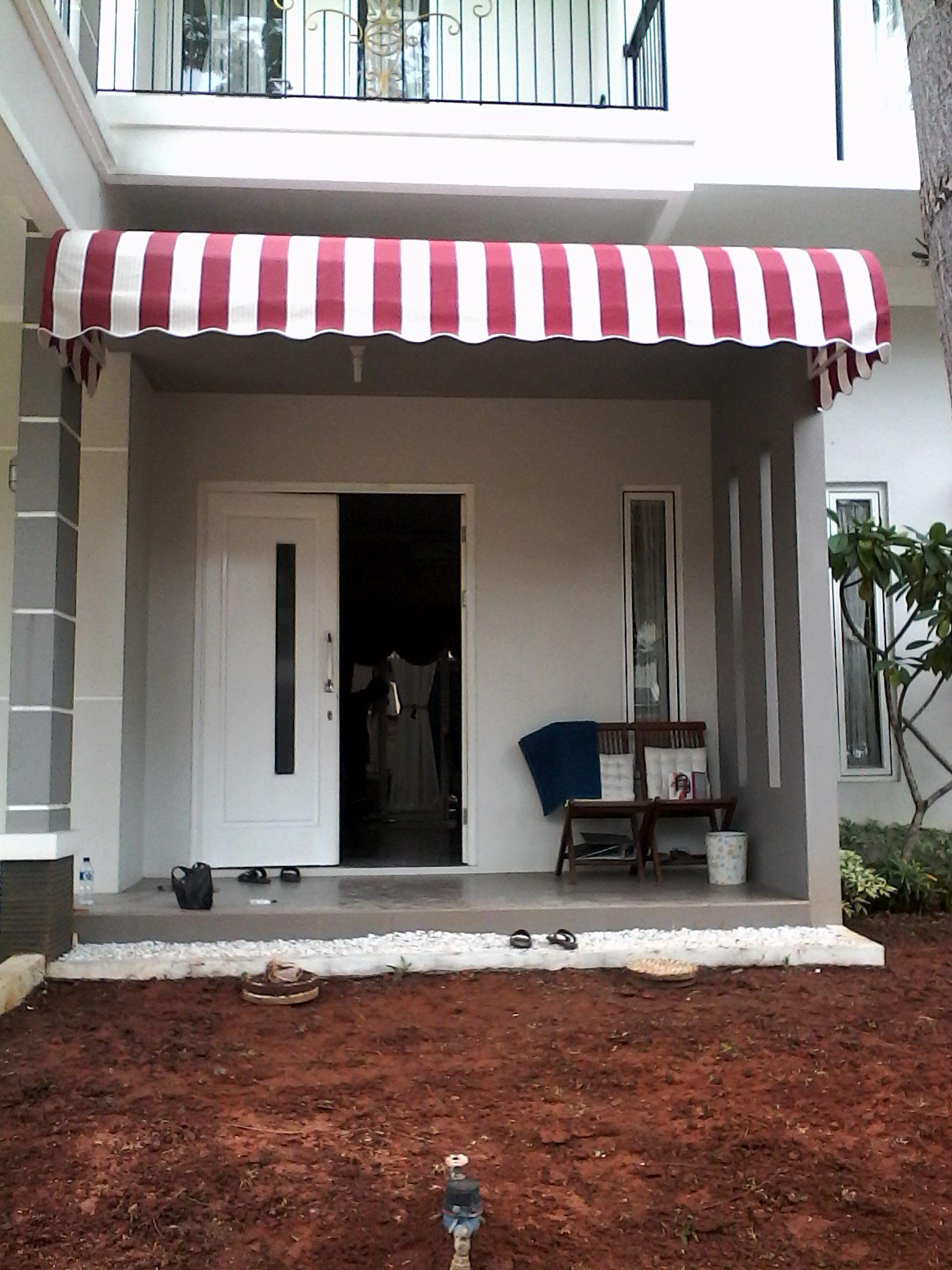 Canopy Kain Atau Tenda Awning Merupakan Pilihan Tepat Untuk Menambah Nilai Artistik Keindahan Pada Rumah Atau Toko Anda Rumah Rumah Kecil Kanopi