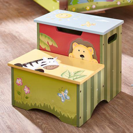 Sensational Fantasy Fields Sunny Safari Kids Step Stool Multi Colour Pabps2019 Chair Design Images Pabps2019Com