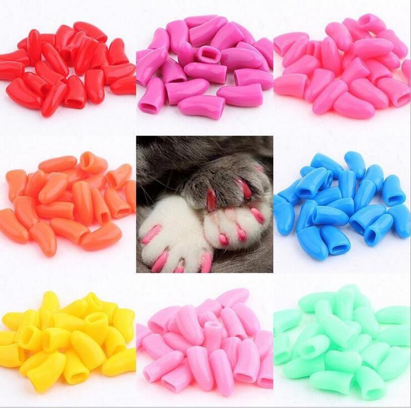XS S M L XL XXL 20pcs / bag with free Adhesive Glue pets Soft Cat ...