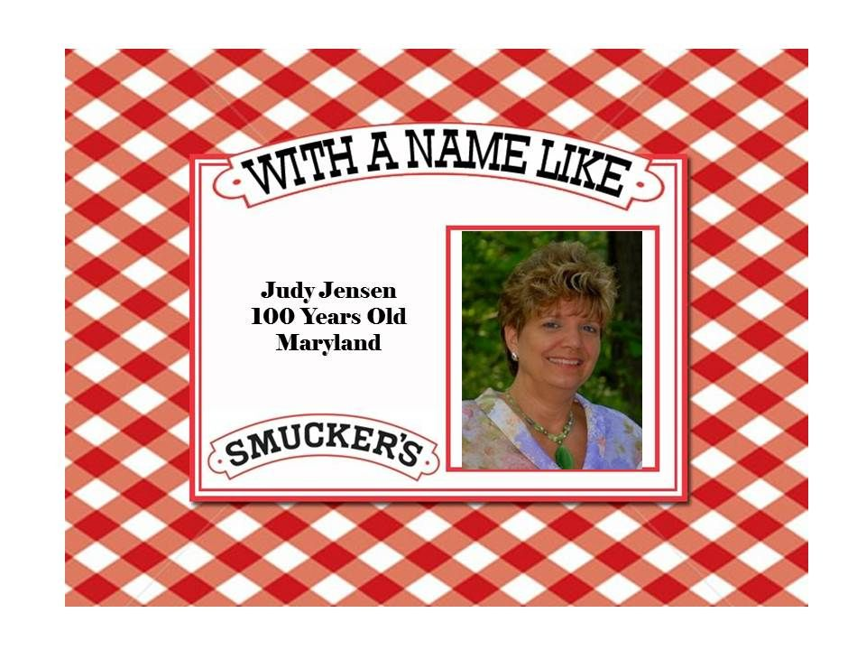 I Ve Decided This Is One Of My New Goals To Get On The Smucker S Birthday List Birthday Labels Birthday Template 100th Birthday Card