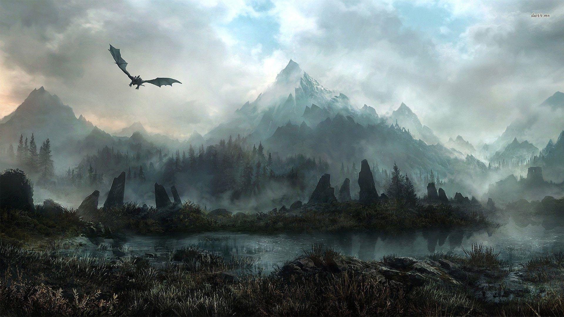 The Elder Scrolls V Skyrim Wallpaper Game Wallpapers Fantasy Landscape Skyrim Wallpaper Skyrim Art