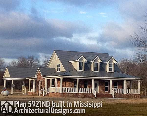 2000 square foot farmhouse plan 5921nd built in mississippi stunning - Farmhouse Plans 2000 Square Foot