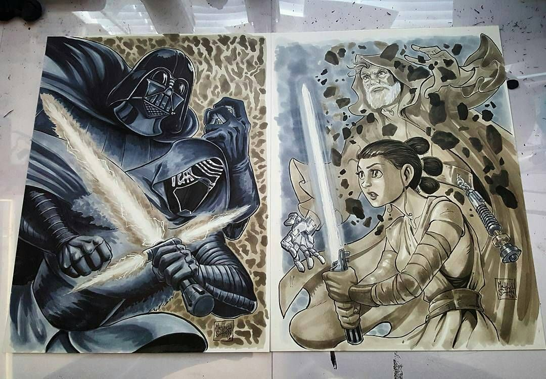 TheForce is strong with this StarWars illustration Matt