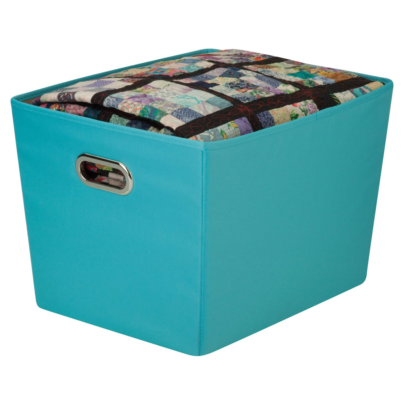 Honey Can Do Large Decorative Storage Bin With Handles Black