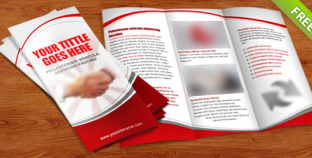 Free Brochure Templates PSD Download Brochure Template Free - Three fold brochure template free download