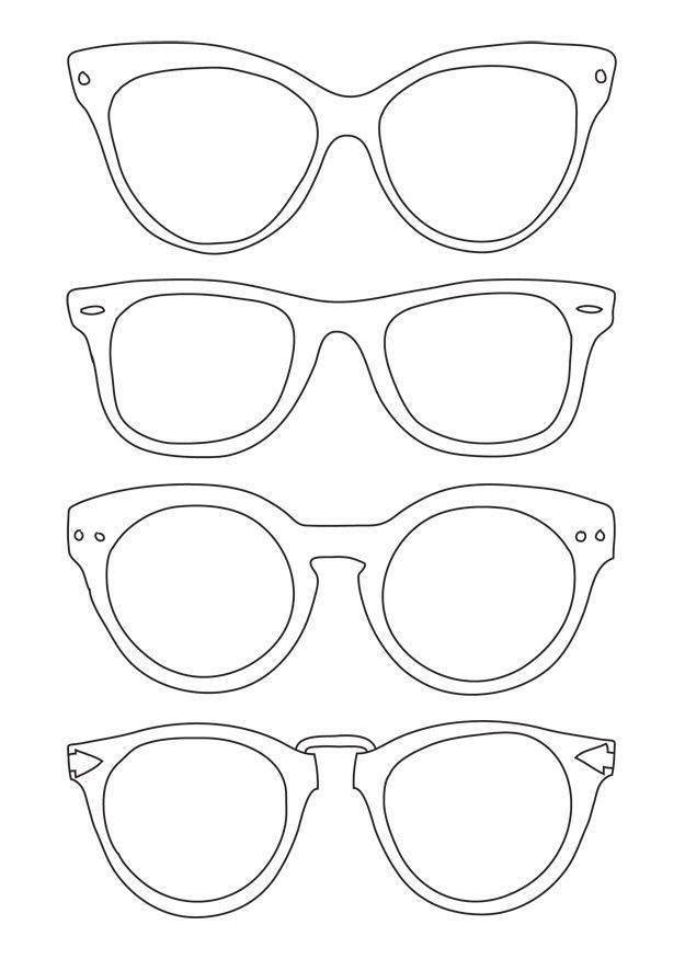 ad20fc5befef glasses template to print - Google Search