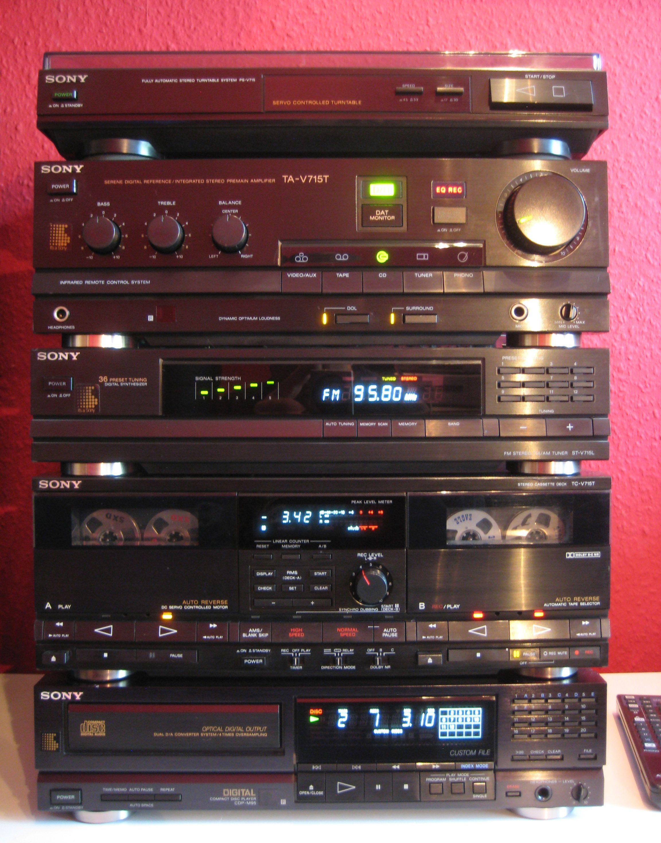 SONY Precise V-715 Home Stereo System | Vintage Stereo ...