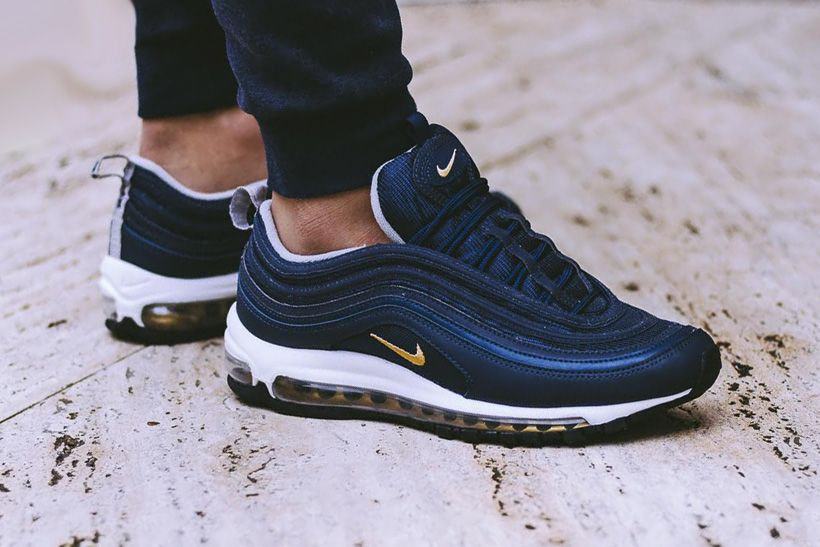 2c2ab98304ed7 Nike Air Max 97's Upcoming Navy, Grey & Black Colorways Look Even ...