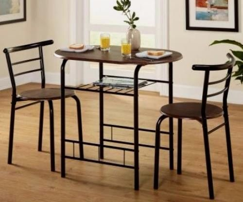 Kitchen Bistro Set Space Saver Dinning Table Chairs Small