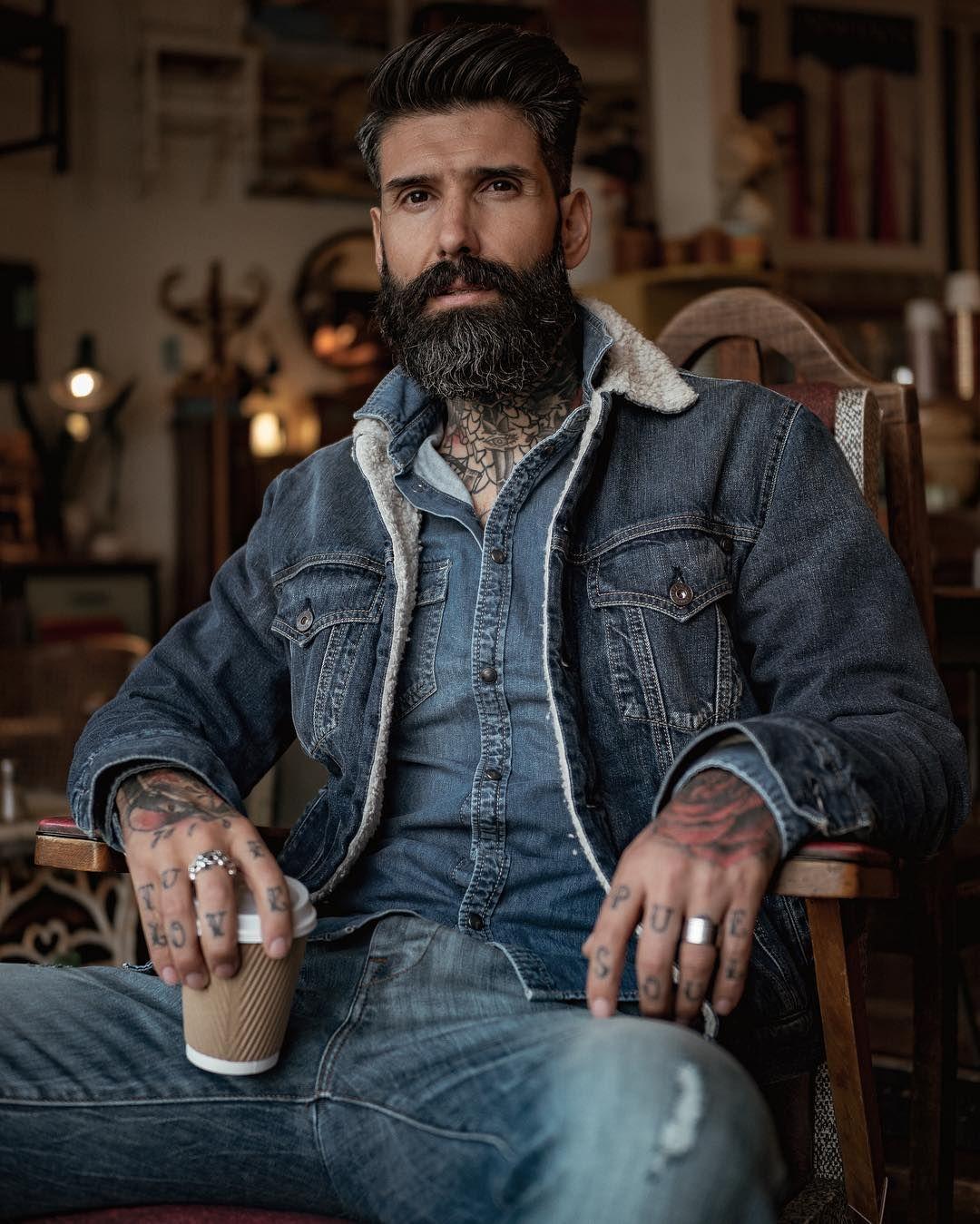 Denim On Denim On Denim Men Fashion Casual Shirts Mens Fashion Rugged Mens Outfits