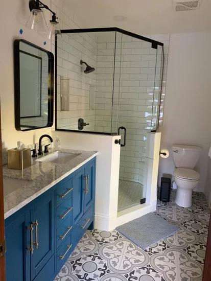 Kendall Blue Bathroom Vanity Transitional Bathroom Vanities And Sink Consoles By Houzz Blue Bathroom Vanity Blue Bathroom Transitional Bathroom Vanities