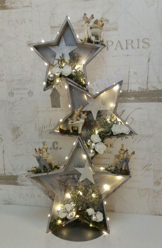 Ideen für Weihnachtsdekorationen; Ideen für eine Ferienhausdekoration; Feiertagsschm #rusticcrafts